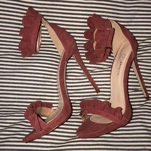 Blush sued heels